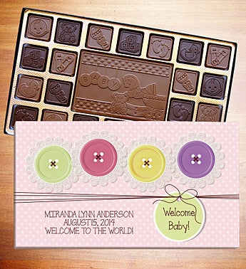 Welcome Baby Chocolates -It's a Girl  45 ct   l LB