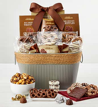 Simply Chocolate Snacking Favorites Basket