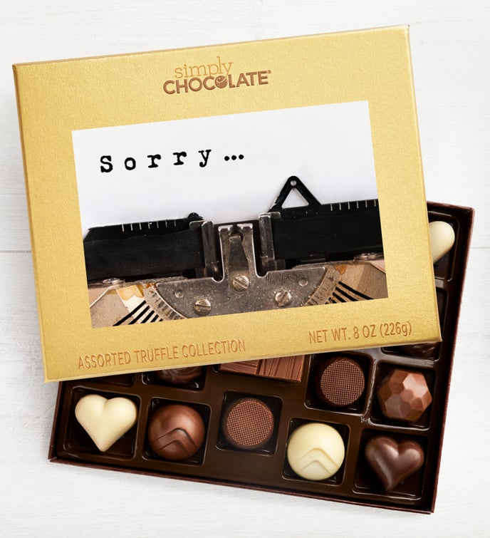 Sorry-Typewriter 19pc Chocolate Box
