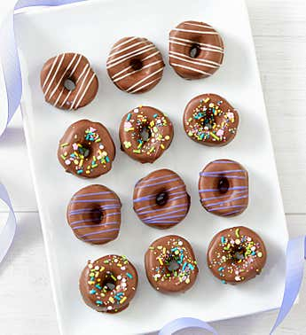 Simply Chocolate Spring Marshmallow Donuts 12 pc