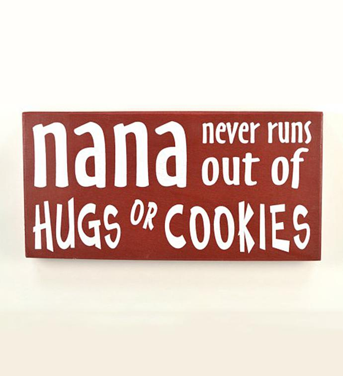 Nana Hugs  Cookies Wall Quote