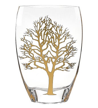 Tree Of Life Gold Vase