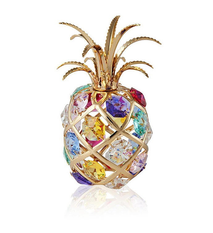 Gold Plated Pineapple Ornament