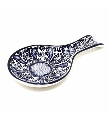 Global Crafts Encantada Handmade Pottery Spoon Rest