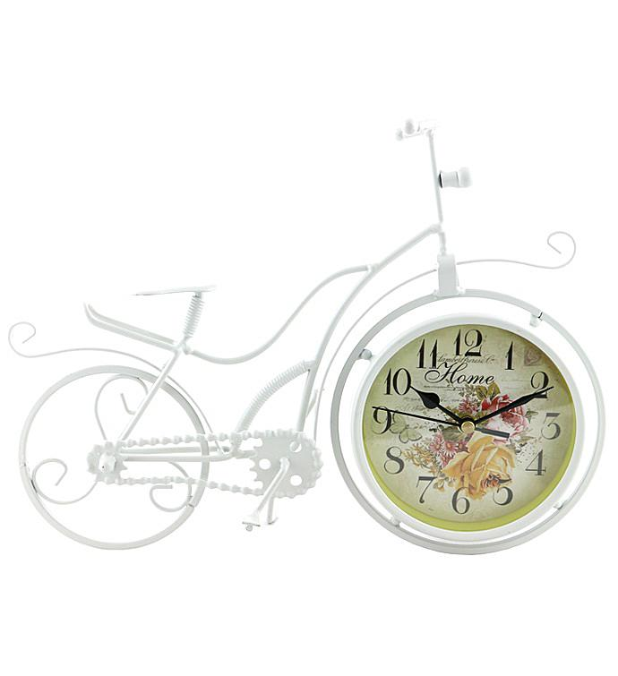 White Bike Clock