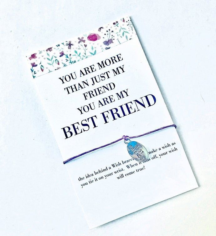 More Than Friend Wish Bracelet