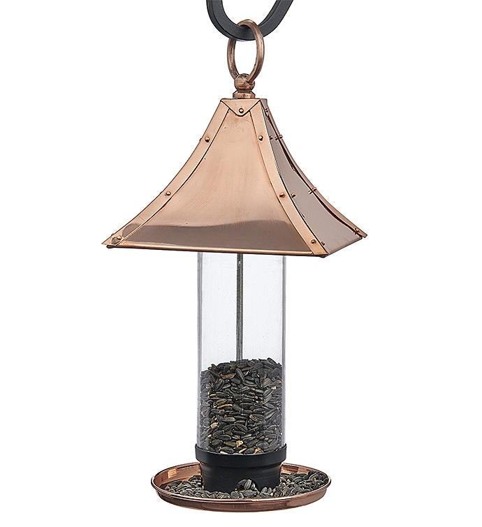 Palazzo Bird Feeder - Polished Copper By Good Directions