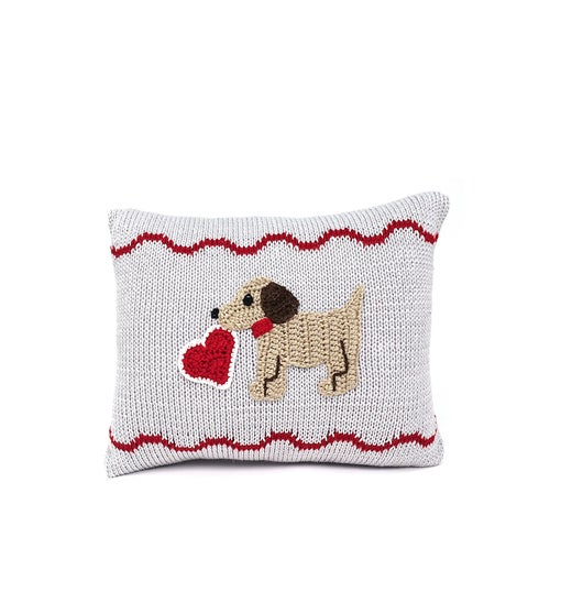 Valentine Puppy Pillow
