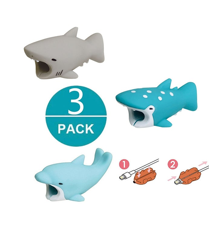 3-pack Animal Cable Protectors for iPhone  Android