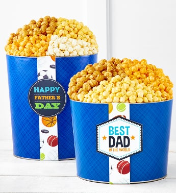 Happy Fathers Day Popcorn Tins